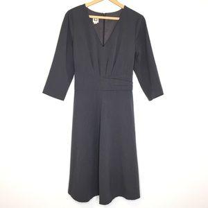 Anne Klein Gray Dress w/Back Tie 3/4 Sleeves | 14